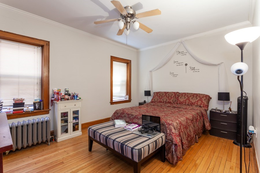 Real Estate Photography - 5040 West Cullom Ave, Chicago, IL, 60641 - Unit 1 - Master Bedroom