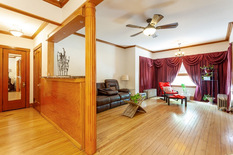 Real Estate Photography - 5040 West Cullom Ave, Chicago, IL, 60641 - Unit 1 - Living Room, Foyer