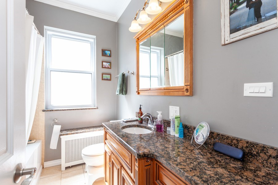 Real Estate Photography - 5040 West Cullom Ave, Chicago, IL, 60641 - Unit 2 - Bathroom