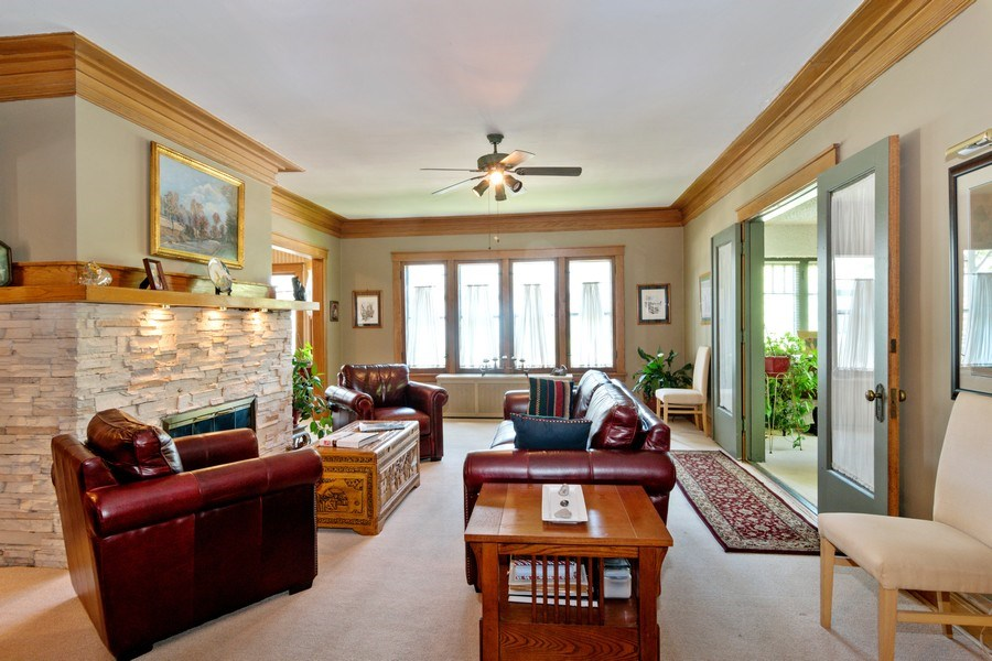 Real Estate Photography - 202 North Ridgeland Ave, Oak Park, IL, 60302 - LIVING ROOM - First Floor