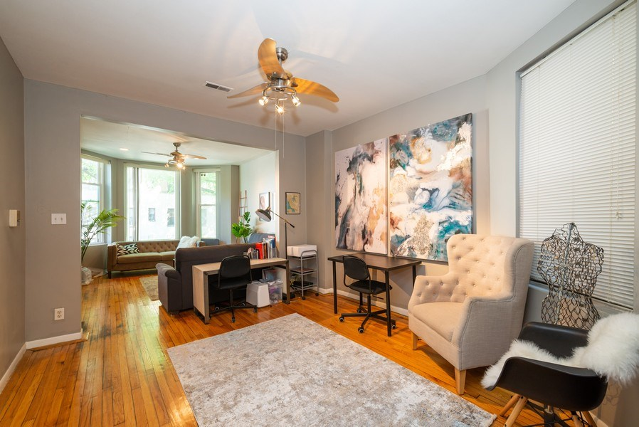 Real Estate Photography - 3556 North Wilton Ave, Chicago, IL, 60657 - Living Room / Dining Room