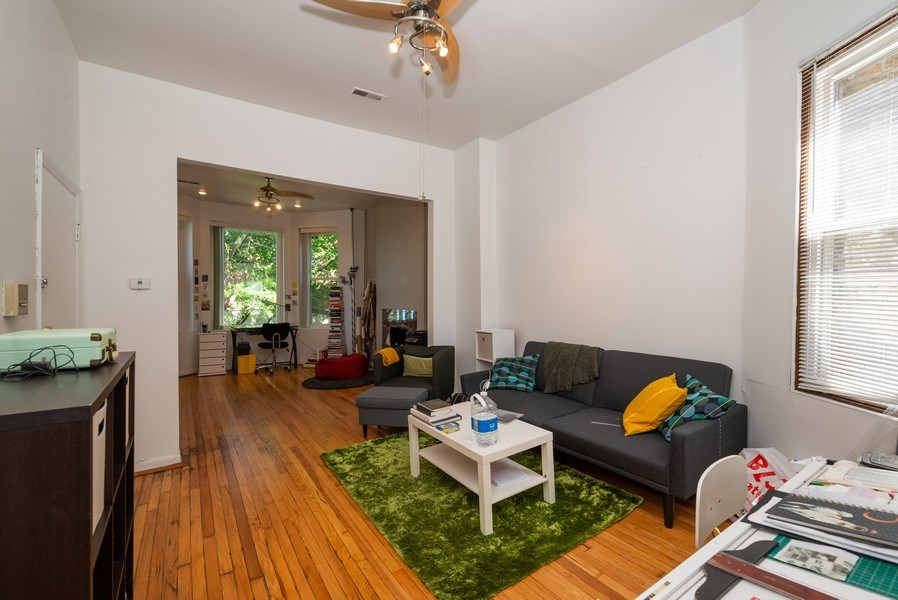 Real Estate Photography - 3556 North Wilton Ave, Chicago, IL, 60657 - Living Room/Dining Room