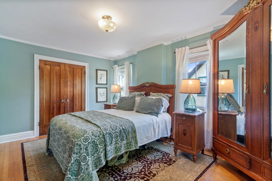 Real Estate Photography - 831 N. Summit Street, Wheaton, IL, 60187 - Master Bedroom- Doors to walk in closet