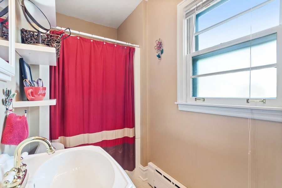 Real Estate Photography - 831 N. Summit Street, Wheaton, IL, 60187 - First Floor full bathroom