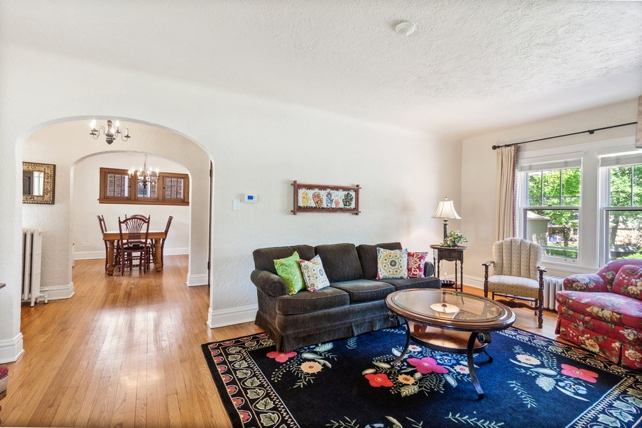 Real Estate Photography - 831 N. Summit Street, Wheaton, IL, 60187 - Living Room / Dining Room