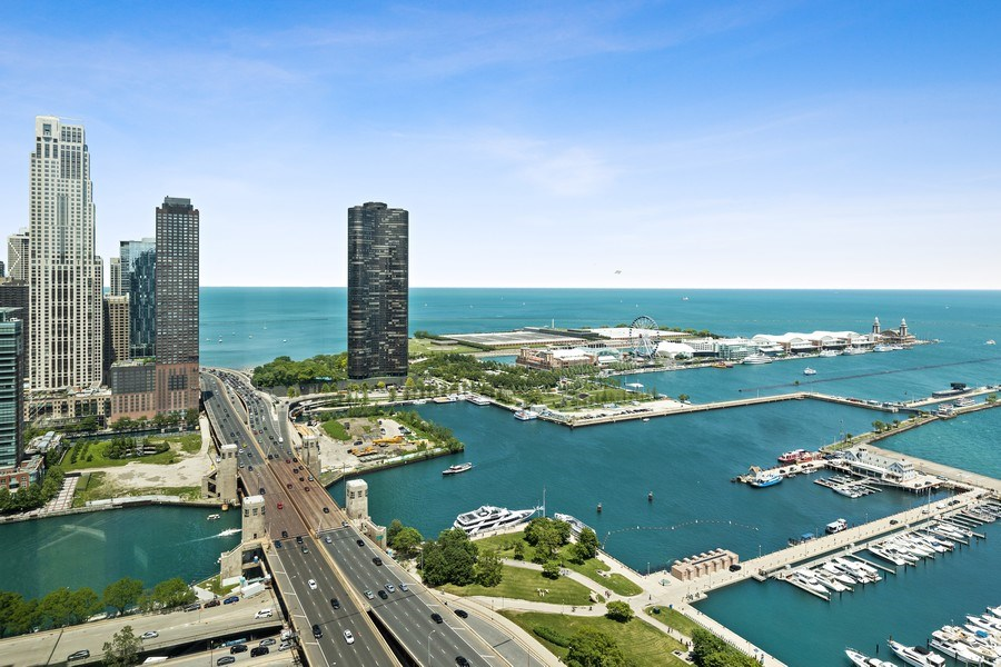 Real Estate Photography - 195 N. Harbor Drive, Unit 3601, Chicago, IL, 60601 - View
