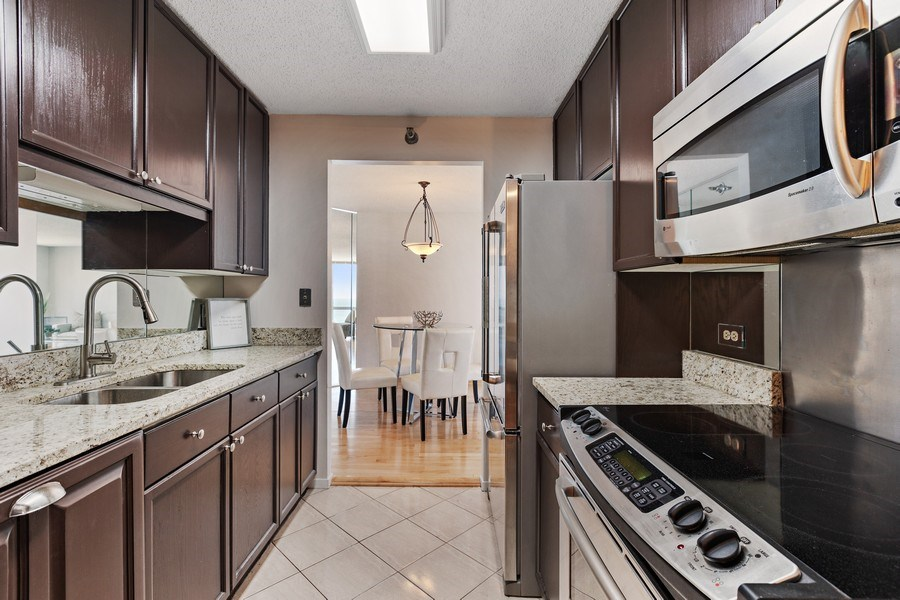 Real Estate Photography - 195 N. Harbor Drive, Unit 3601, Chicago, IL, 60601 - Kitchen