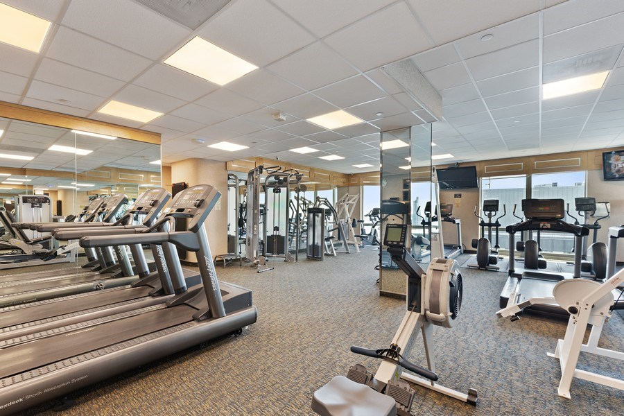 Real Estate Photography - 195 N. Harbor Drive, Unit 3601, Chicago, IL, 60601 - Exercise Room