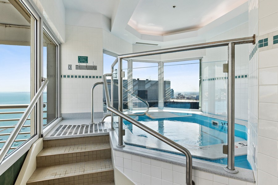 Real Estate Photography - 195 N. Harbor Drive, Unit 3601, Chicago, IL, 60601 - Pool