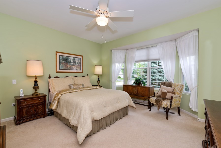 Real Estate Photography - 2544 Harvest Vly, Elgin, IL, 60124 - MASTER BEDROOM WITH BAY WINDOW
