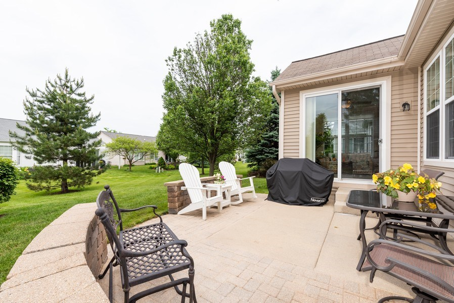 Real Estate Photography - 2544 Harvest Vly, Elgin, IL, 60124 - EXTENDED PATIO WITH EXTRA TREES