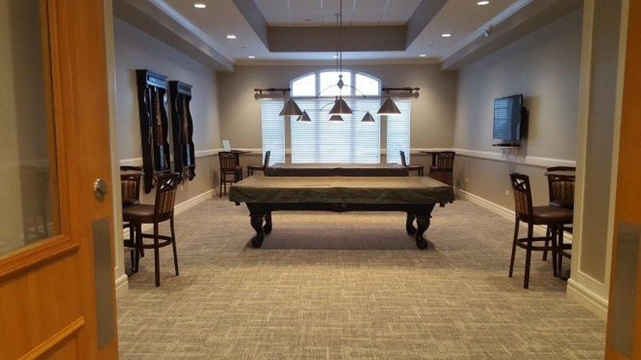 Real Estate Photography - 2544 Harvest Vly, Elgin, IL, 60124 - BILLIARD ROOM WITH TV