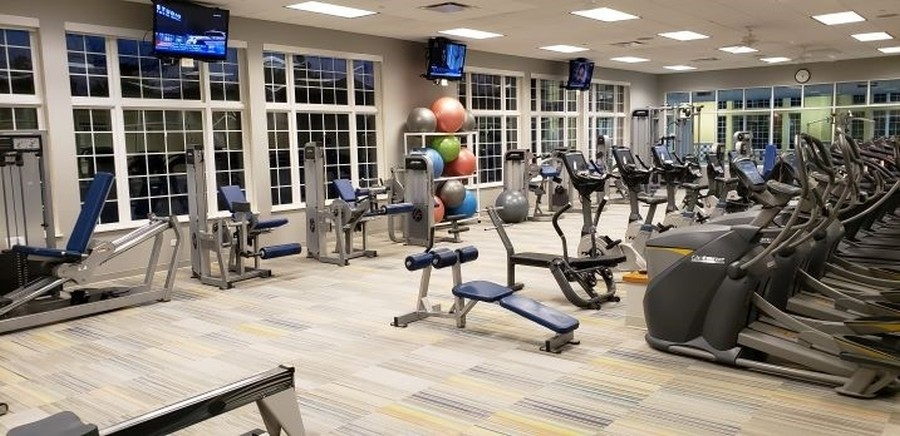 Real Estate Photography - 2544 Harvest Vly, Elgin, IL, 60124 - FITNESS CENTER WITH ALL NEW TREADMILLS