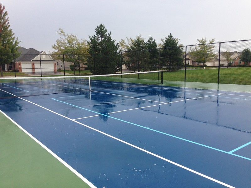 Real Estate Photography - 2544 Harvest Vly, Elgin, IL, 60124 - TWO NEW TENNIS COURTS