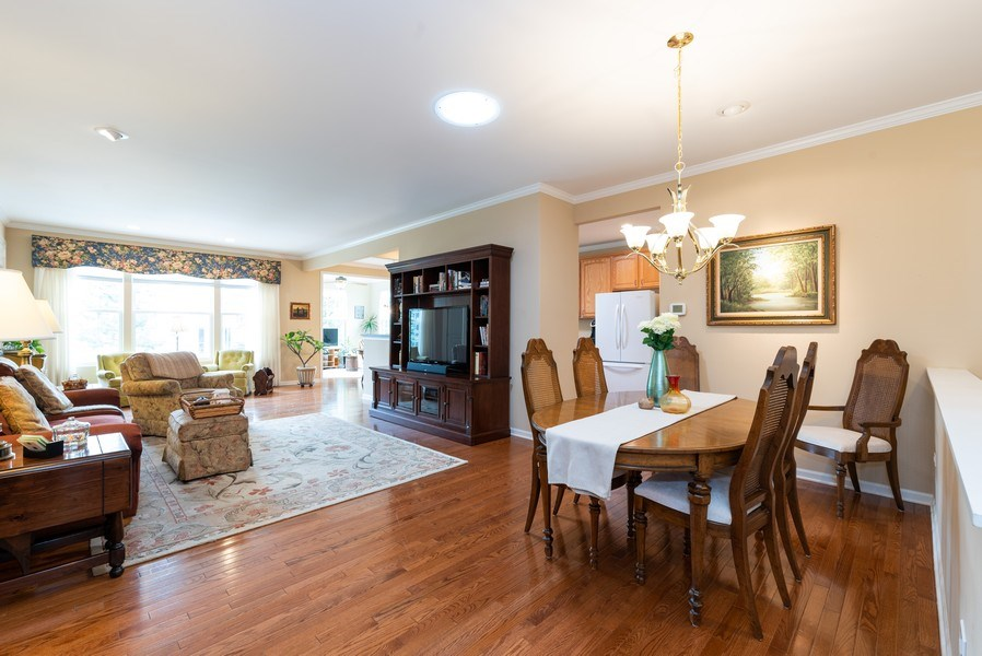 Real Estate Photography - 2544 Harvest Vly, Elgin, IL, 60124 - DINING ROOM WITH SOLAR TUBE LIGHT