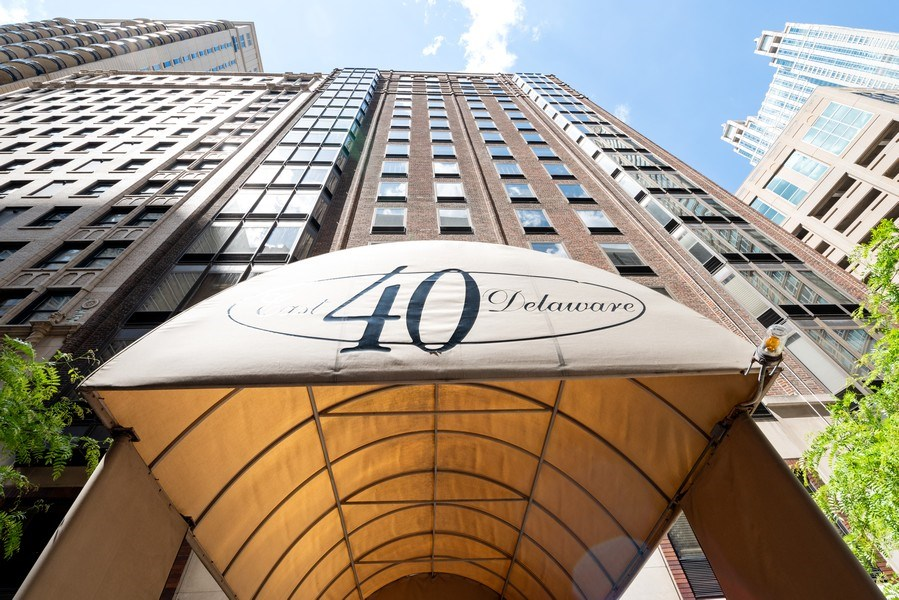 Real Estate Photography - 40 E. Delaware Place, Unit 503, Chicago, IL, 60611 - Front View
