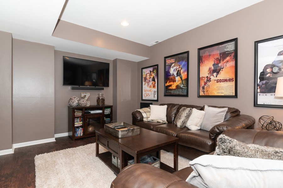 Real Estate Photography - 12 S. Quincy Street, Hinsdale, IL, 60521 - Media Room