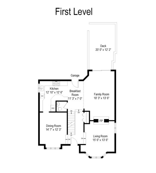 Real Estate Photography - 12 S. Quincy Street, Hinsdale, IL, 60521 - Floor Plan
