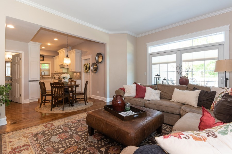 Real Estate Photography - 12 S. Quincy Street, Hinsdale, IL, 60521 - Family Room / Kitchen
