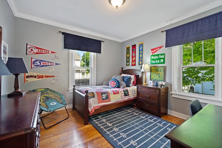 Real Estate Photography - 215 Coolidge Avenue, Barrington, IL, 60010 - Bedroom