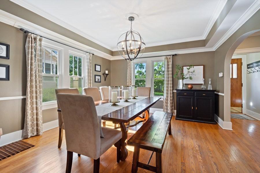 Real Estate Photography - 215 Coolidge Avenue, Barrington, IL, 60010 - Dining Room