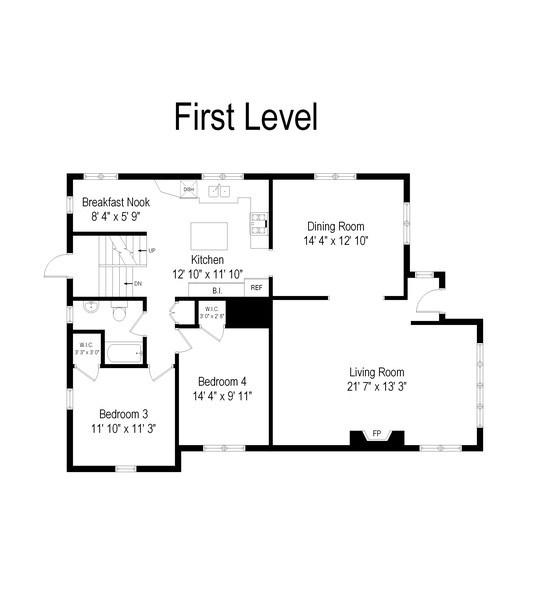 Real Estate Photography - 215 Coolidge Avenue, Barrington, IL, 60010 - Floor Plan