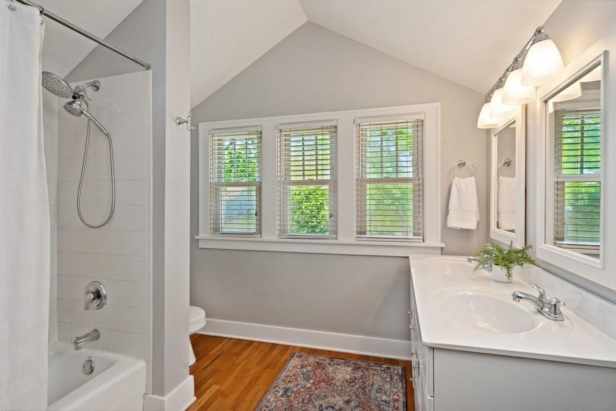 Real Estate Photography - 215 Coolidge Avenue, Barrington, IL, 60010 - Bathroom