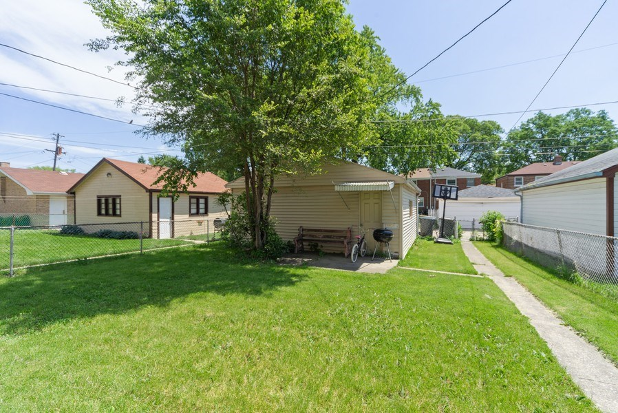 Real Estate Photography - 329 46th Avenue, Bellwood, IL, 60104 - Back Yard