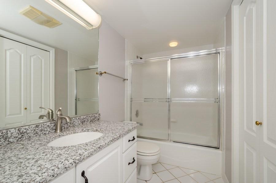 Real Estate Photography - 6411 Lincoln Avenue, Unit 503, Morton Grove, IL, 60053 - 2nd Bathroom