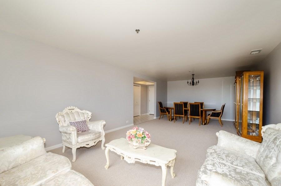 Real Estate Photography - 6411 Lincoln Avenue, Unit 503, Morton Grove, IL, 60053 - Living Room / Dining Room