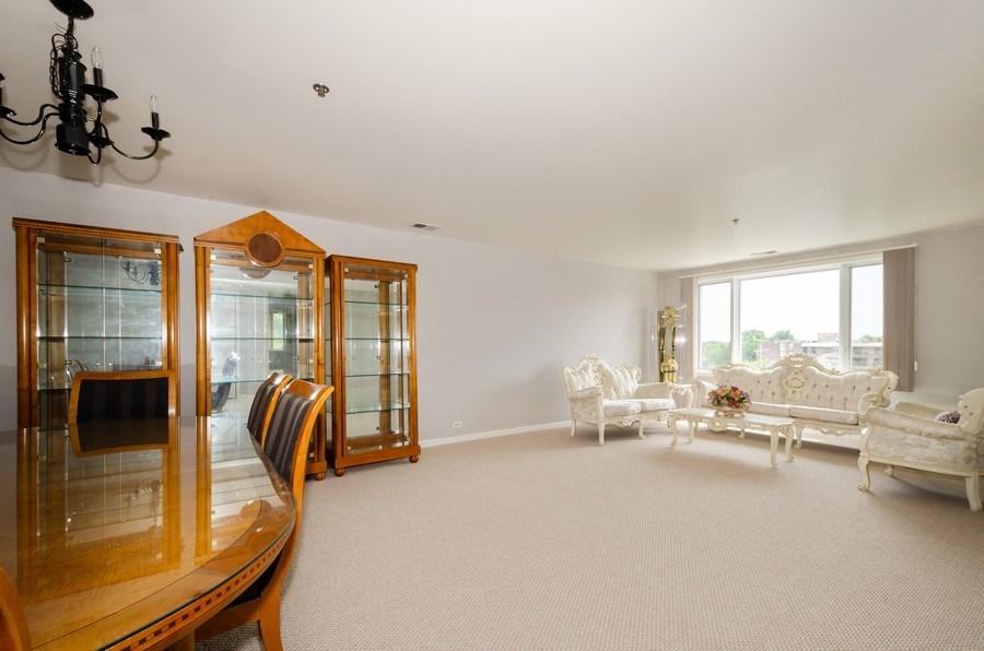 Real Estate Photography - 6411 Lincoln Avenue, Unit 503, Morton Grove, IL, 60053 - Living Room/Dining Room
