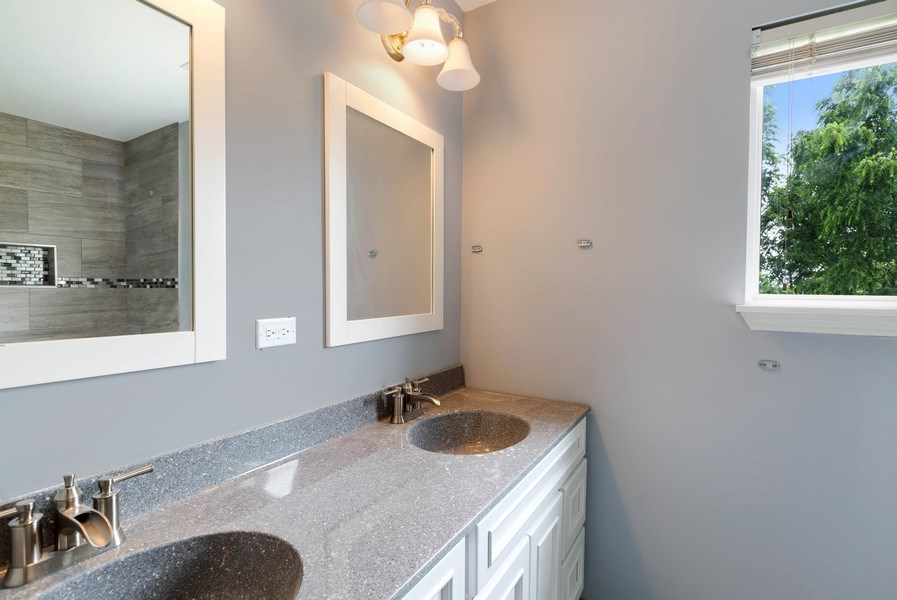 Real Estate Photography - 120 Prairie Ridge Drive, Woodstock, IL, 60098 - Master Bathroom
