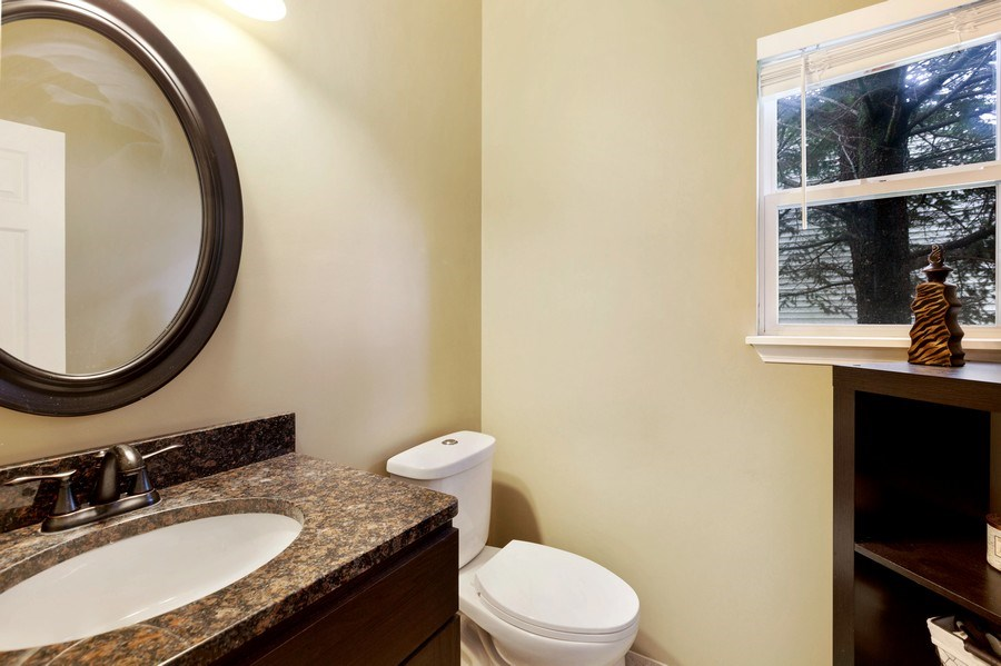 Real Estate Photography - 120 Prairie Ridge Drive, Woodstock, IL, 60098 - Powder Room