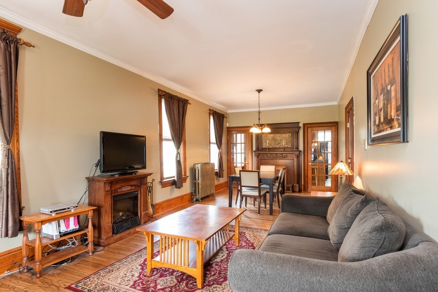 Real Estate Photography - 425 Grant Place, Aurora, IL, 60505 - Living Room / Dining Room