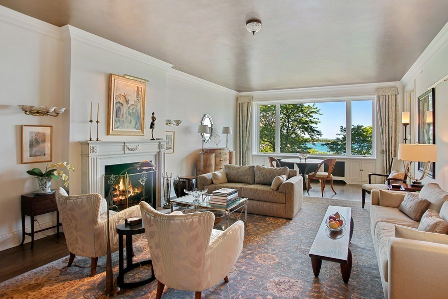 Real Estate Photography - 179 E. LAKE SHORE Drive, Unit 501, Chicago, IL, 60611 - Living Room