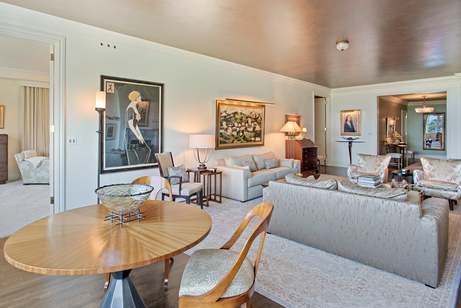 Real Estate Photography - 179 E. LAKE SHORE Drive, Unit 501, Chicago, IL, 60611 - Living Room / Dining Room