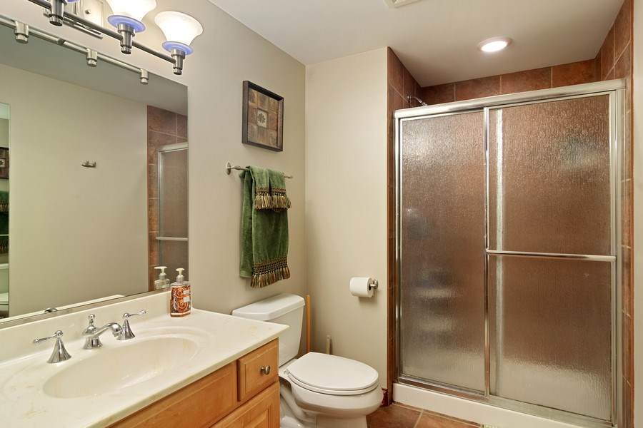 Real Estate Photography - 117 LUCY Court, Lake Zurich, IL, 60047 - Basement Full Bathroom