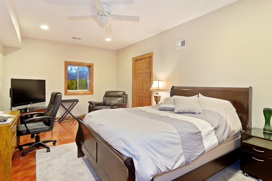 Real Estate Photography - 117 LUCY Court, Lake Zurich, IL, 60047 - Basement Bedroom (Fifth Bedroom)