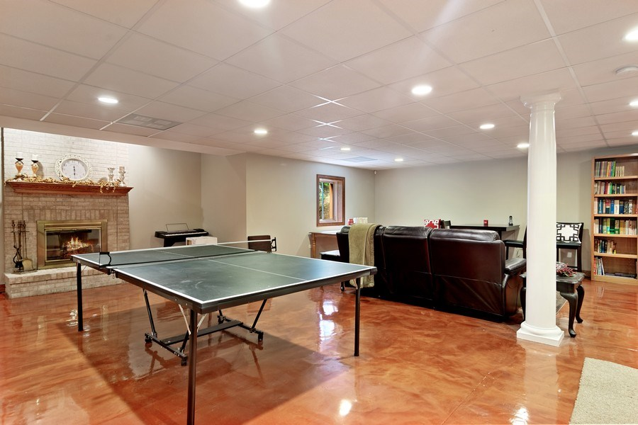 Real Estate Photography - 117 LUCY Court, Lake Zurich, IL, 60047 - Basement Family Room & Game Room/Play Area