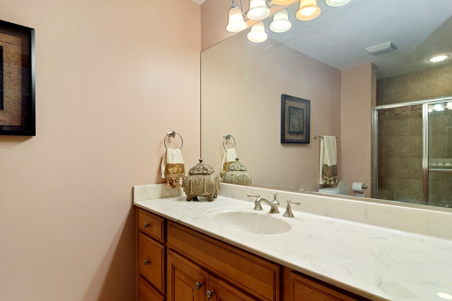 Real Estate Photography - 117 LUCY Court, Lake Zurich, IL, 60047 - Second Bedroom Ensuite Bathroom