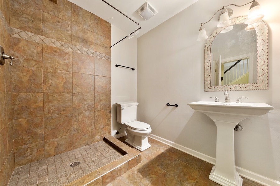 Real Estate Photography - 2 Honeysuckle Court, Bolingbrook, IL, 60490 - 2nd Bathroom