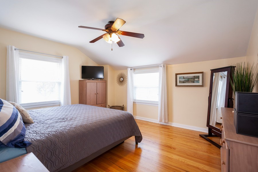 Real Estate Photography - 1621 Belleview Avenue, Westchester, IL, 60154 - Master w/Hardwood Floors & Neutral Decor