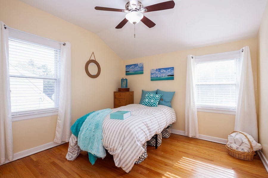Real Estate Photography - 1621 Belleview Avenue, Westchester, IL, 60154 - 3rd Bedroom w/ Hardwood Floor & Neutral Decor