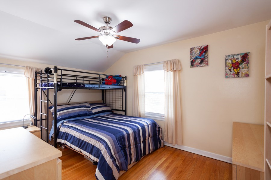 Real Estate Photography - 1621 Belleview Avenue, Westchester, IL, 60154 - 2nd Bedroom with Hardwood Floors, Neutral Decor
