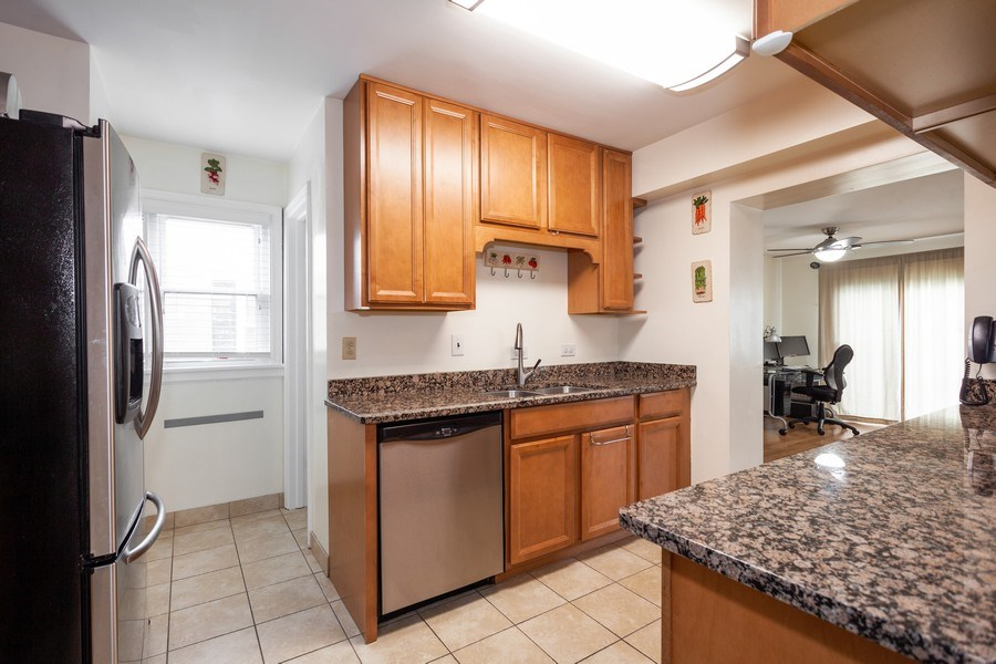 Real Estate Photography - 1621 Belleview Avenue, Westchester, IL, 60154 - Updated Kitchen with Granite & SS Appliances