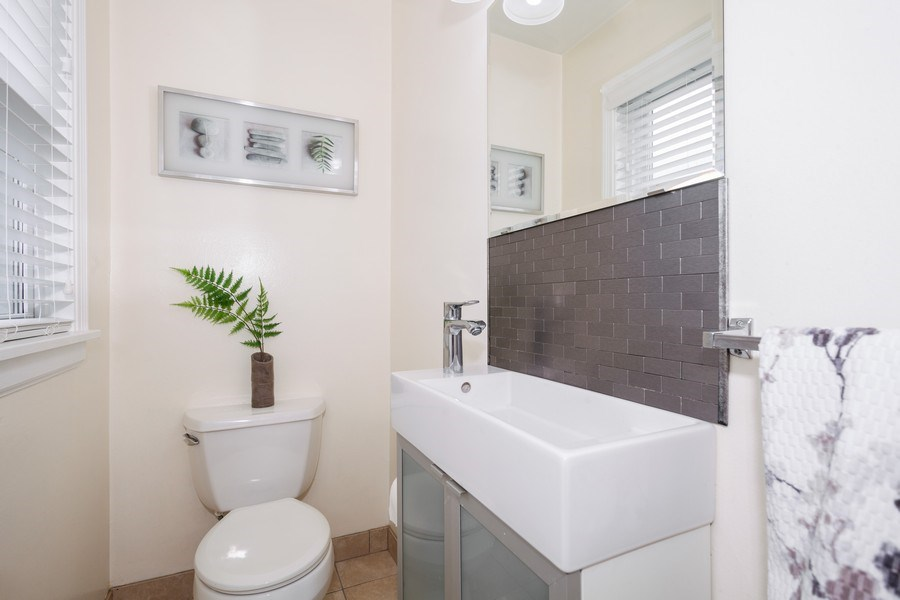 Real Estate Photography - 1621 Belleview Avenue, Westchester, IL, 60154 - Update Half Bath of Kitchen