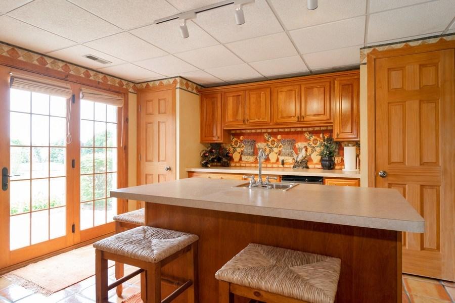 Real Estate Photography - 598 Golfers Lane, Bartlett, IL, 60103 - Walkout basement kitchenette