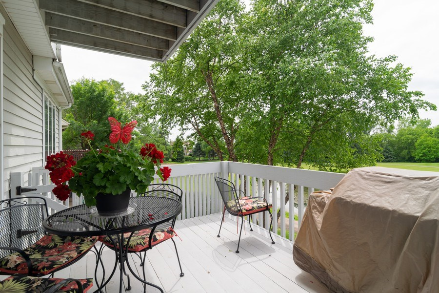 Real Estate Photography - 598 Golfers Lane, Bartlett, IL, 60103 - Deck off of informal eating area