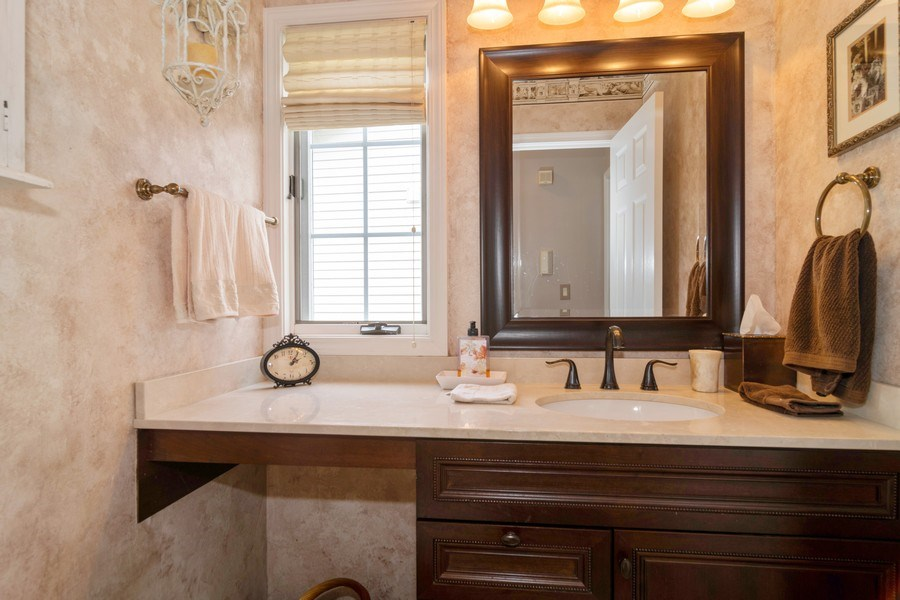 Real Estate Photography - 598 Golfers Lane, Bartlett, IL, 60103 - Powder room