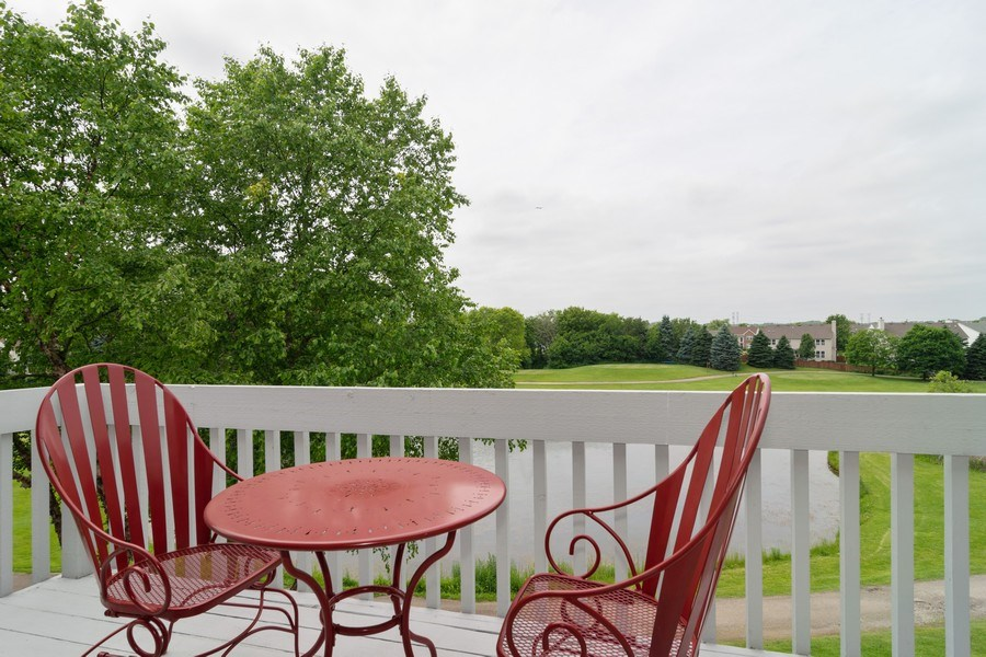Real Estate Photography - 598 Golfers Lane, Bartlett, IL, 60103 - Deck off of master bedroom
